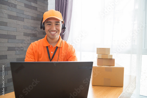 Delivery call center online operator Poster