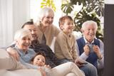 Happy big family watching tv - 142240832
