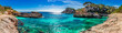 Leinwanddruck Bild - Island scenery, seascape Spain Majorca, beach bay Cala s'Almunia, beautiful coastline Mediterranean Sea