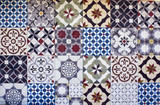 Different types of many Mediterranean / Aegean tiles. Captured in Bodrum peninsula / Turkey. True reflection of culture and lifestyle. - 142242039