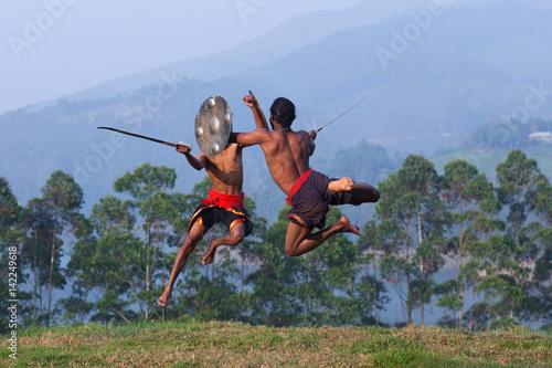 Kalaripayattu Martial Art in Kerala, India Poster