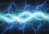 Fototapety Fire and ice abstract lightning background, clash of the elements