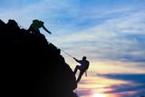kayalıklarda ipli tırmanış mücadelesi - 142262654