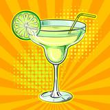 Fototapety Liquor alcohol cocktail pop art vector