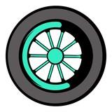 Car wheel icon, icon cartoon