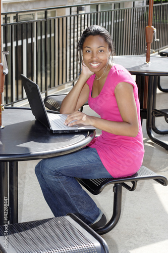 Poster Female African American College Student
