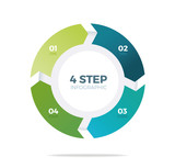 Four step circle infographic - 142320281