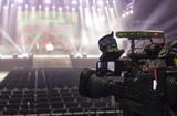tv camera in a concert hal. Professional digital video camera. - 142327445