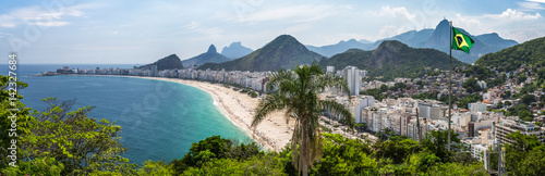 Fotobehang Rio de Janeiro Blick auf die Copacabana, vom Fort in Rio de Janeiro, Brasilien