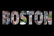 Boston - travel sign postcard