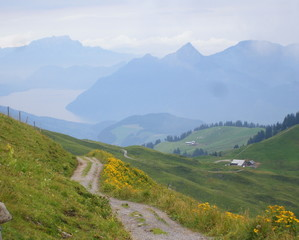 Switzerland - Swiss Alps hiking trail © PETRA