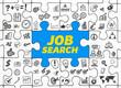 Job Search / Puzzle mit Symbole