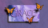 Grace and free butterflies - 142371674