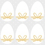 white eggs with raffia ribbons Easter seamless pattern on light dotted background