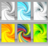 Set of abstract swirl backgrounds. Ideal for brochure & flyer cover design. - 142373487