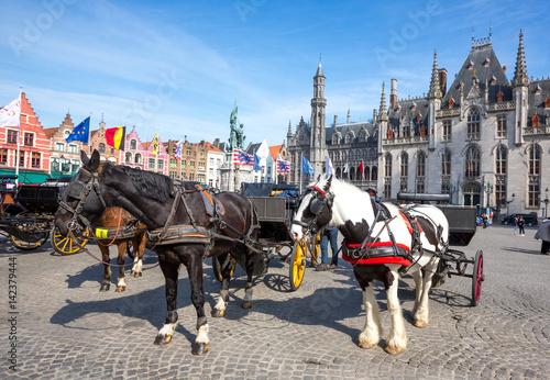 Deurstickers Brugge Marktplatz in Brügge