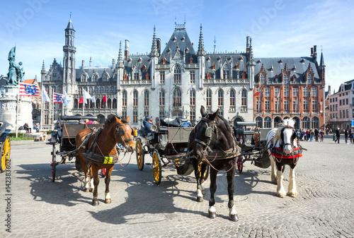 Deurstickers Brugge Marktplatz Brügge