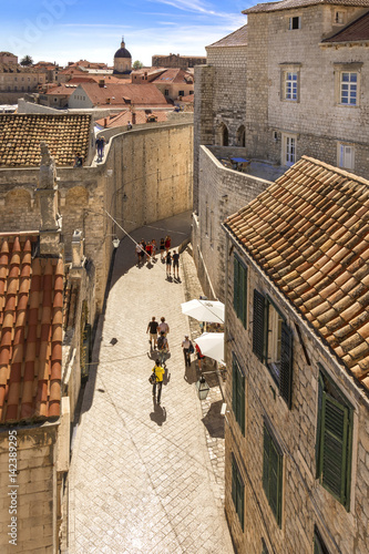 Street in Old Town Dubrovnik, view from City Walls Poster