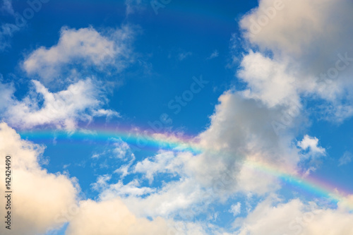 Beautiful rainbow in the sky
