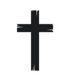 christian cross icon over white background. vector illustration