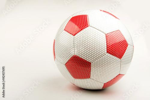 футбольный мяч на белом фоне Poster