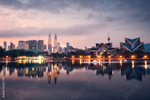 In de dag Kuala Lumpur Kuala Lumpur at the sunrise