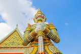 Demon Guardian at wat Arun in Bangkok Thailand