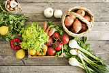 Fototapety Vegetables on wooden table