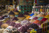 Traditional spices bazaar with herbs and spices in Aswan, Egypt. - 142478093
