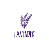 Template logo design of abstract icon lavender. Vector illustration - 142482069