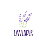 Template logo design of abstract icon lavender. Vector illustration - 142482070