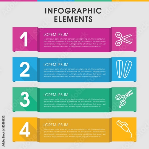 Hairdressing infographic design with elements.