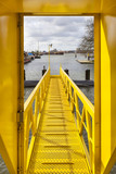 Yellow ship gangway