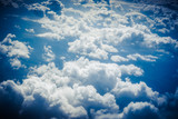 Clouds from above. View from airplane. - 142502623