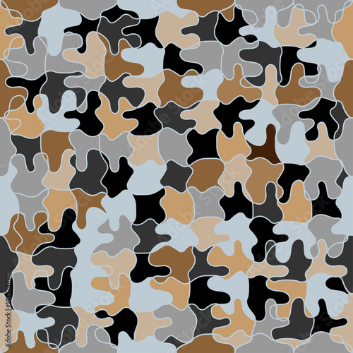 Plexiglas Abstractie Seamless pattern with geometric shapes and symbols. Vector texture or background pattern.