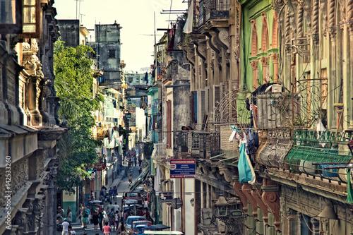 Spoed canvasdoek 2cm dik Havana Havana Street Scene