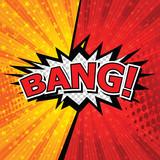 Bang! Comic Speech Bubble, Cartoon. art and illustration vector file.