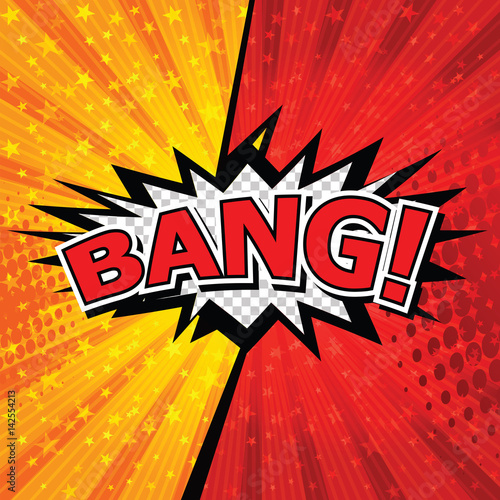 Bang! Comic Speech Bubble, Cartoon. art and illustration vector file.
