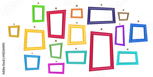 Cartoon Photo Picture Painting Drawing Frame - 142564495