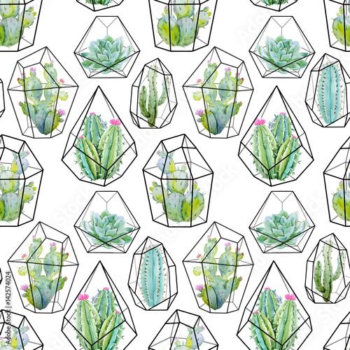 akwarela-wektor-wzor-kaktusa