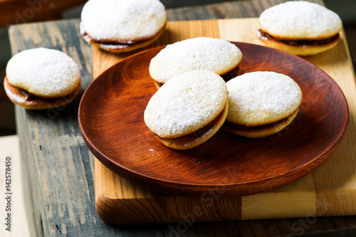 Poster alfajores cookies.style rustic