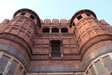 Red Agra Fort in Agra. Uttar Pradesh, UNESCO World heritage site, India