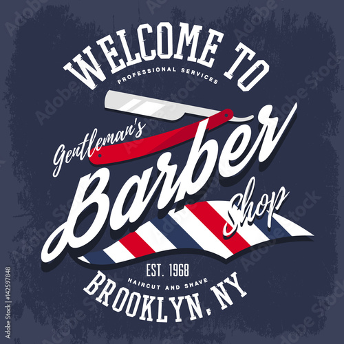 Branding sign or insignia for barber shop Poster