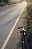 vintage bicycle on the road