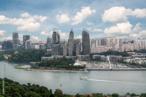 Aerial view of caribbean at keppel bay in Singapore  Poster