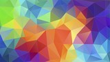 Flat triangle multicolor geometric triangle wallpaper - 142603862