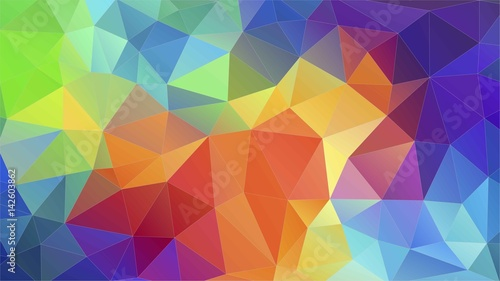 Fotobehang Geometrische Achtergrond Flat triangle multicolor geometric triangle wallpaper