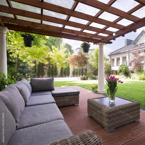 Luxury garden furniture Poster