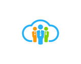 Online Job Icon Logo Design Element