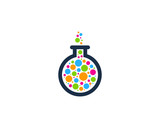 Science Particle Lab Icon Logo Design Element
